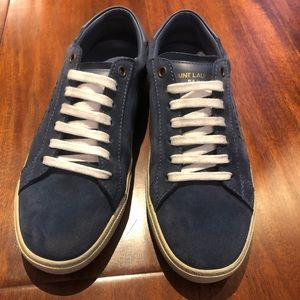 Saint Lauren denim color sneakers 8.5